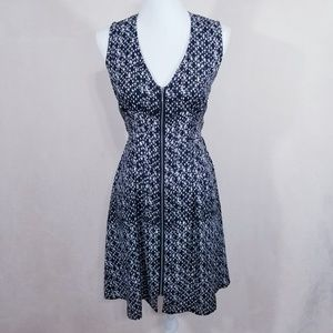 H & M Black/White Full Zipper Front Dress - 4 -NWT